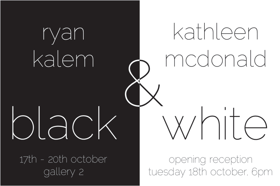 Black & White showcard